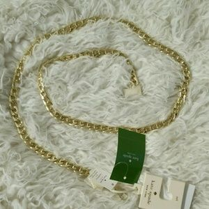 Kate Spade Gold Metal Chain Belt M/L